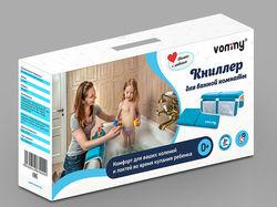 Дизайн упаковки для Книллера в ванную комнату