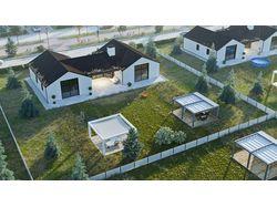 Разработка и визуализация коттеджного поселка