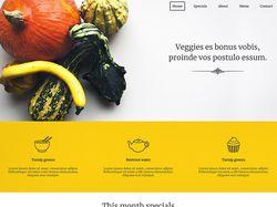Вёрстка сайта ресторана Veggie