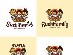 Логотип доставки суши Sushifamily