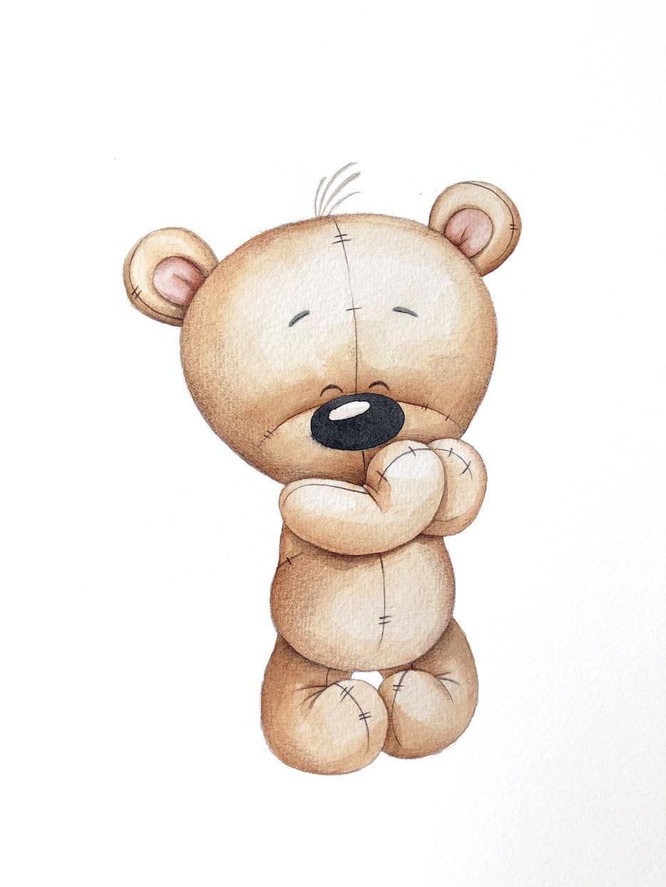 рисунка красивые картинки медвежат мультяшных вполне