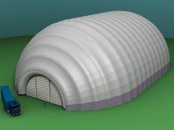 Моделирование и проектирование надувного ангара