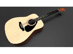 Низкополигональная гитара