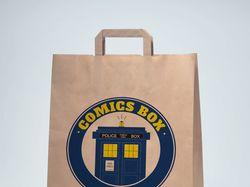 Бумажный пакет COMICS BOX