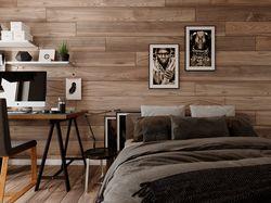 Спальная комната в лофт стиле. 2018