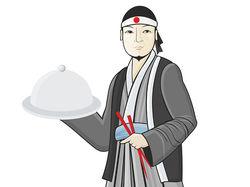 Иллюстрация, суши-повар