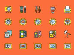 Иконки линеарные, цветные (13 комплектов)