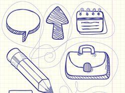 Иконки векторные hand-drawn (3 комплекта)