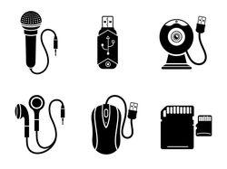 Иконки векторные монохромные (8 комплектов)