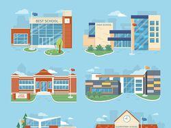 Flat-иллюстрации: города, здания (3 комплекта)