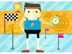 Flat-иллюстрации: спорт (8 комплектов)