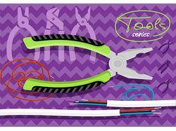 Flat-иллюстрации: инструменты (5 комплектов)