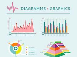 Flat-иллюстрации: инфографика, таблицы