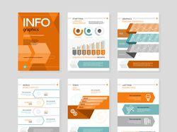 Векторные flat-иллюстрации: плакаты (2 комплекта)