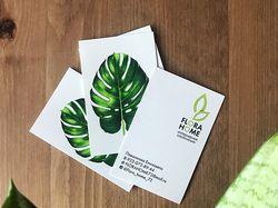 разработка лого и визитки