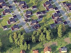 План коттеджного поселка в 3d