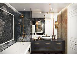 Дизайн и ремонт ванной комнаты в одном из проектов