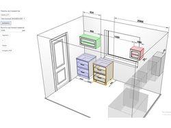 Конструктор для комплектации элементами интерьера
