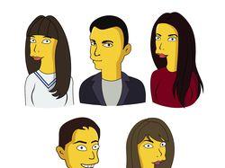 Портреты в стиле Симпсонов