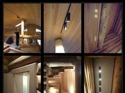Интерьеры кедрового дома