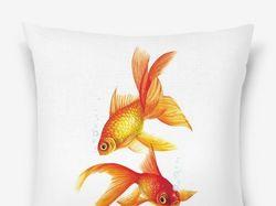 Принт. Золотые рыбки.