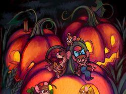 Мышиный Хэллоуин (иллюстрация)