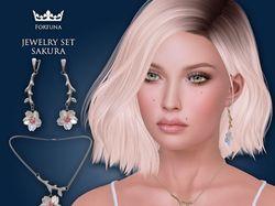 Jewelry set Sakura
