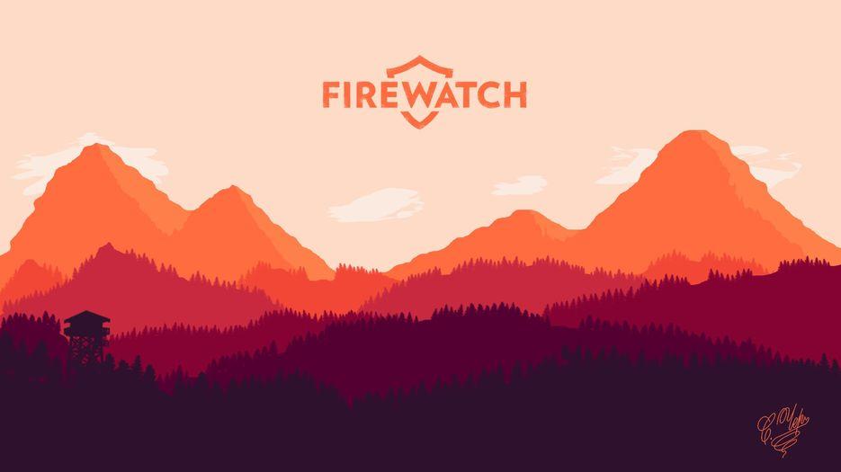 Рисовка в стиле Firewatch, а точнее, попытка точно воссоздать арт