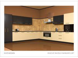 Визуализация элементов интерьера - кухня, лестница