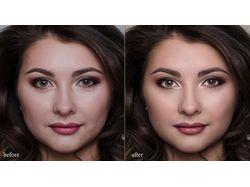 High-end beauty portrait correction