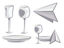 Столовые приборы в Illustrator