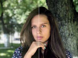 Ретушь женского портрета