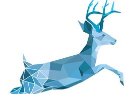 Логотип оленя в стиле low poly