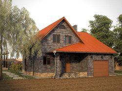 Визуализация дома. 3D Max+Vray