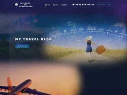 landing page travel blog