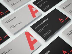 Дизайн визитной карты для сотрудника Альфа-банка