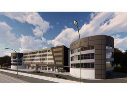 Проект многоуровневый гараж с автосалоном