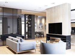 Дизайн проект квартиры студии 120 кв.м. Москва