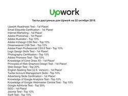 Тесты для Upwork