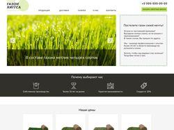 Мокап сайта компании, продающей газон