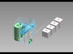 3D модель и P&ID участка агрохимикатов