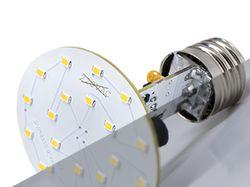Ретушь светодиодной лампы