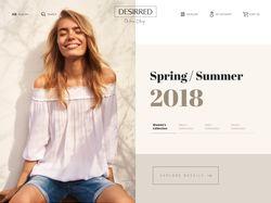 2018 год, вёрстка интернет-магазина (Bootstrap 4)