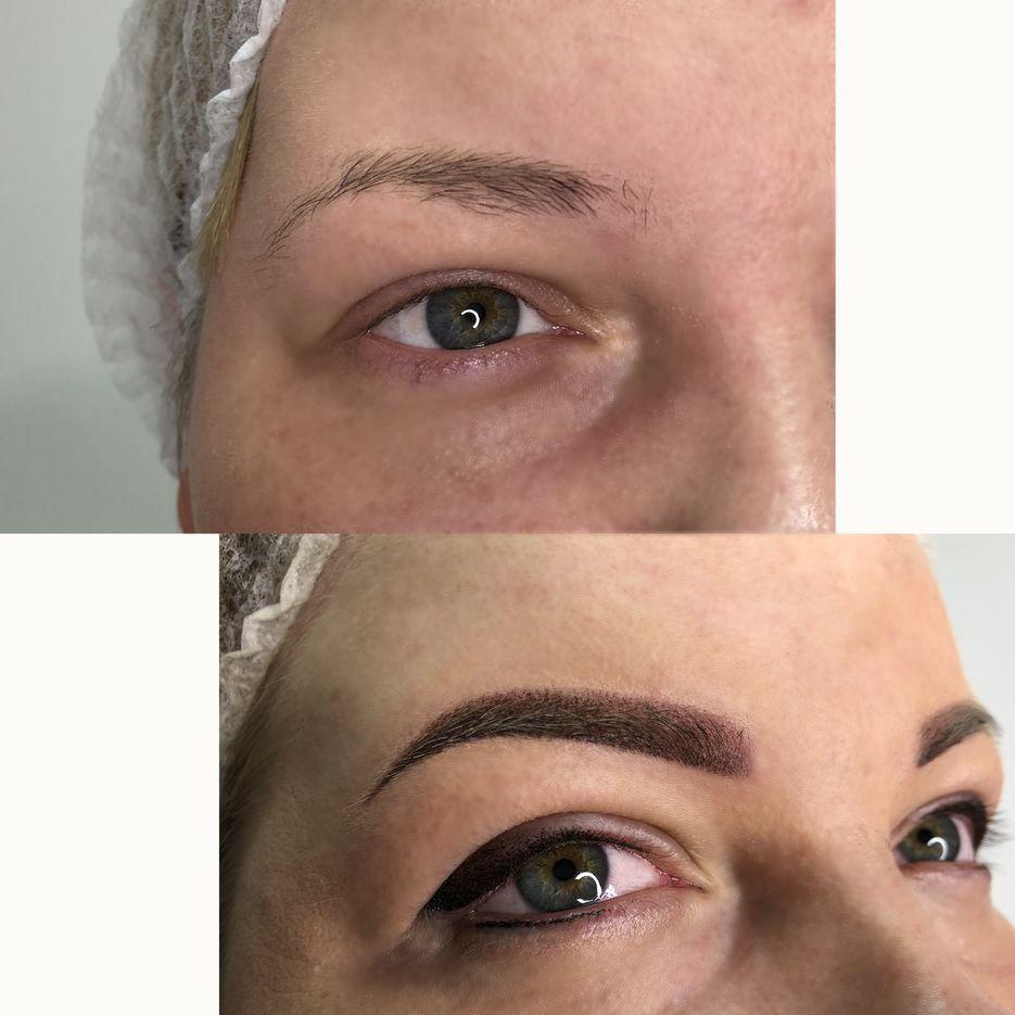 Максимально естественная ретушь кожи, белков глаз.