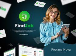 Дизайн для сайта по поиску работы