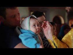 Крещение малыша в церкви
