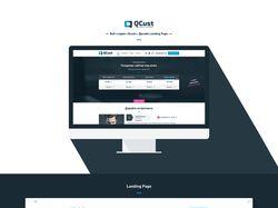 Веб-студия «Qcust». Дизайн Landing Page.