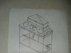 Эскизы металлоконструкций: мангал, ограда