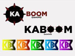 """Серия логотипов для игровой команды """"KABOOM"""""""