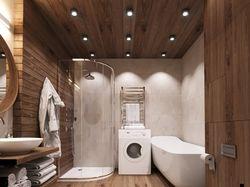 Ванная комната с имитацией бруса